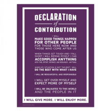 Contribution Declaration Purple Keyboard Campaign - 2016