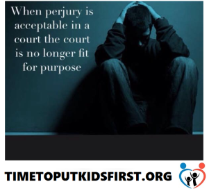 Perjury is Accepted in Family Courts - 2016