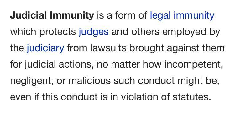 Judicial Immunity - 2015
