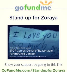 Go Fund Me 1 - Stand up for Zoraya - 2015