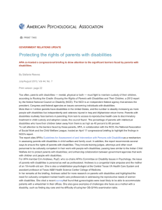 Protecting the rights of parents with disabilities APA - 2015