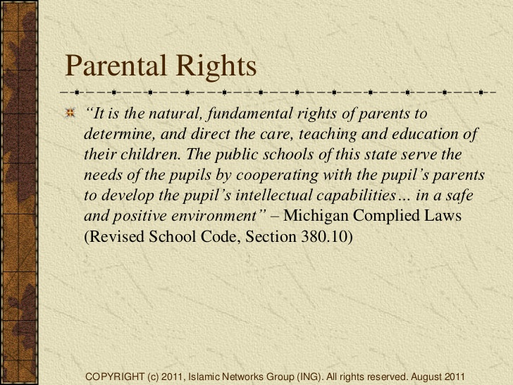 KNOW YOUR PARENTAL RIGHTS!!