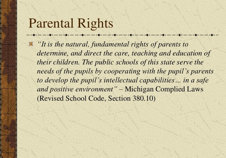 KNOW YOUR PARENTALRIGHTS!!